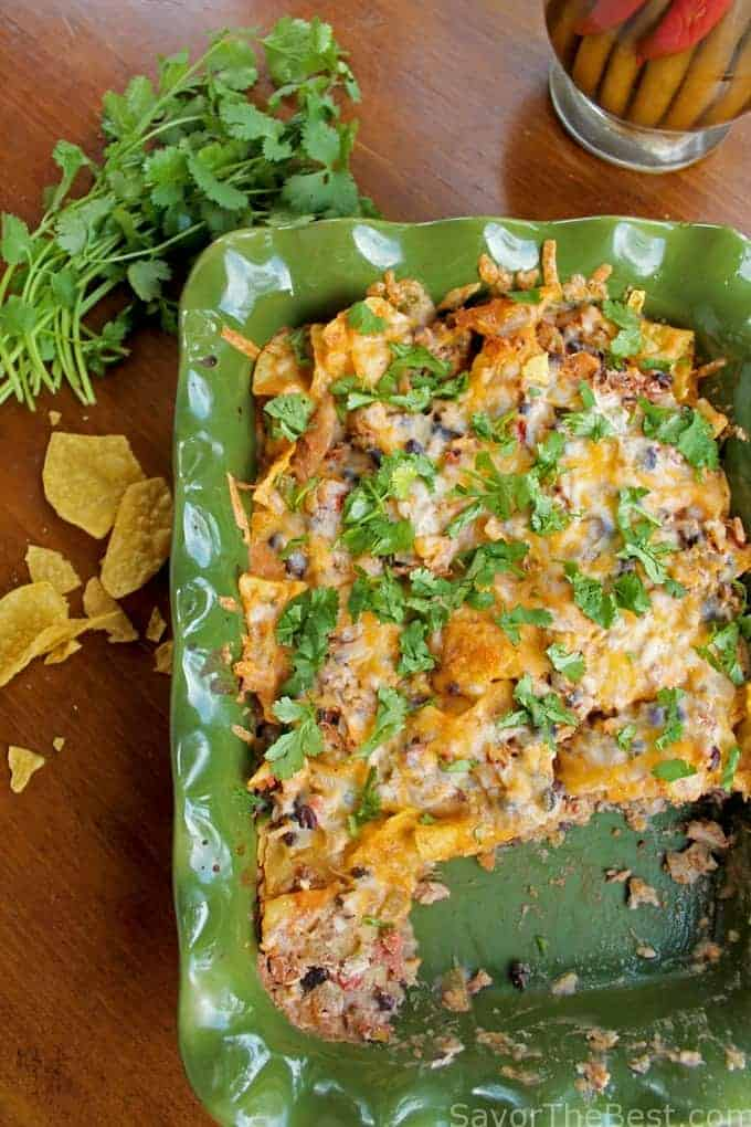 Chicken Tortilla Chip Casserole - Savor the Best