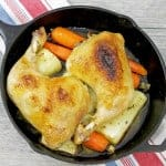 Cast Iron Roast Chicken with Root Vegetables