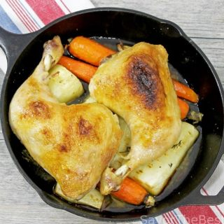 Cast Iron Roas Chicken with Root Vegetables