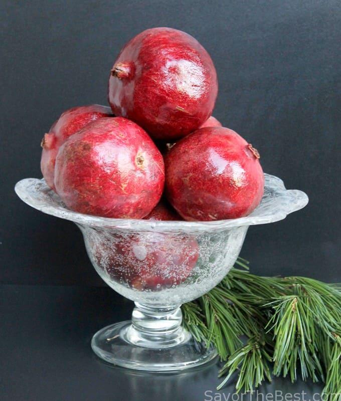 Pomegranates and Oat Groats Breakfast