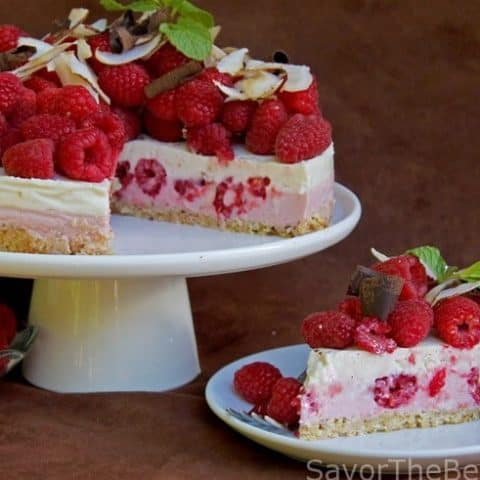Raspberry-Coconut Yogurt Cake