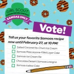 Girl Scout Samoas Cookie Contest