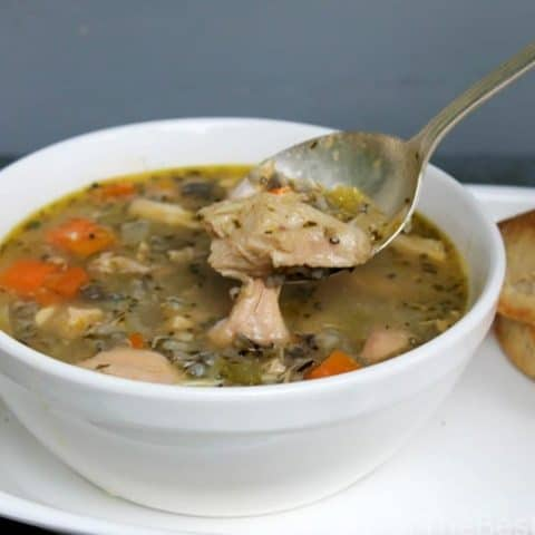Chicken-Vegetable Soup with Wild Rice