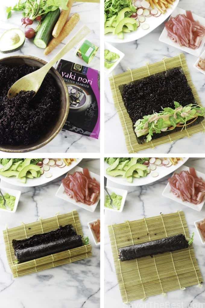 how to prepare rice for sushi rolls