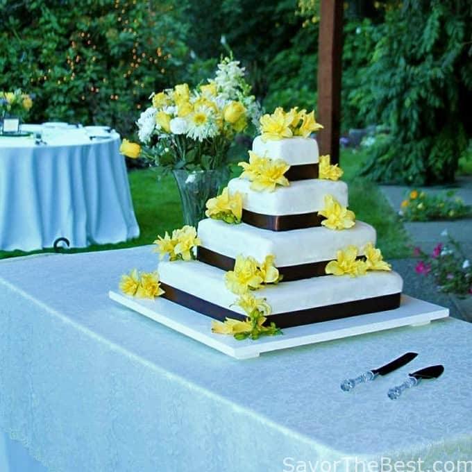 square 4 tier wedding cakes four tier wedding cake savor the best 20343