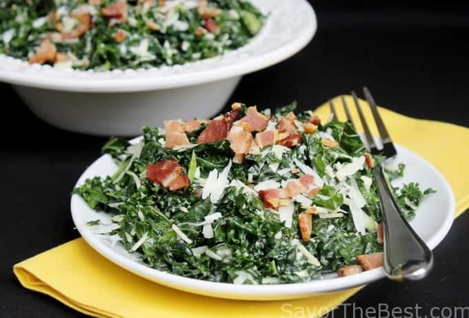 Kale Caesar Salad - Savor the Best