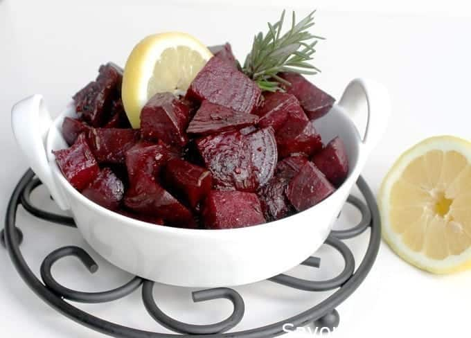 Sautéed rosemary-lemon beets