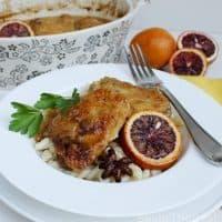 Blood Orange Braised Chicken with Star Anise