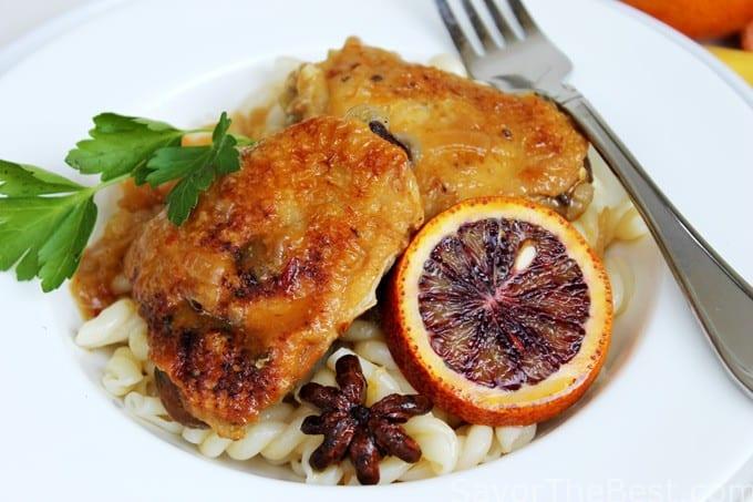 Blood Orange Braised chicken