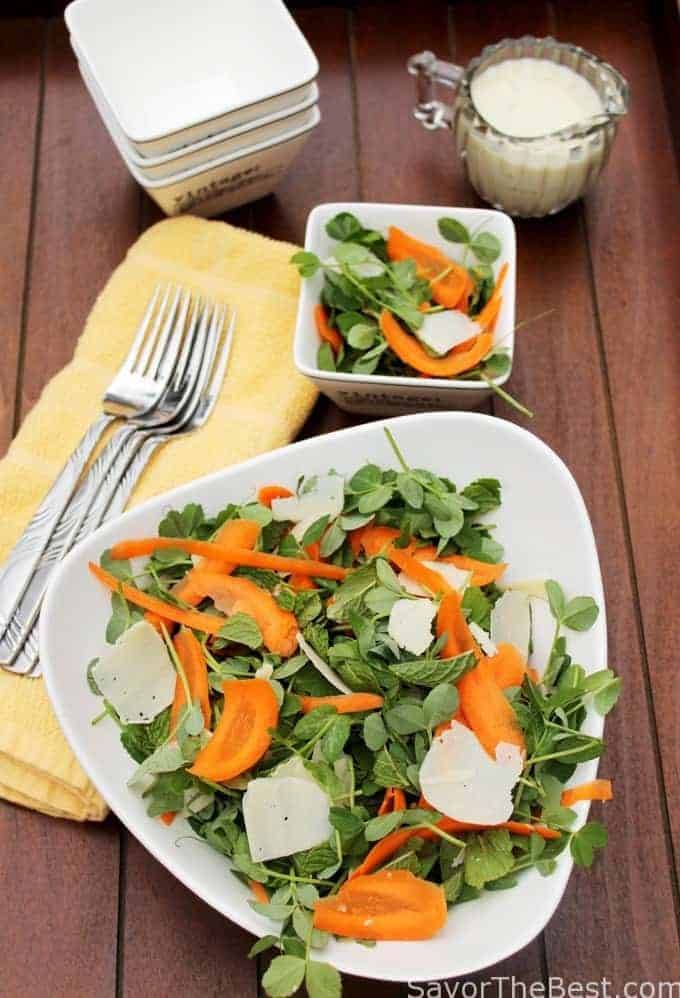 Fresh Carrot, Pea And Mint Salad Recipe — Dishmaps