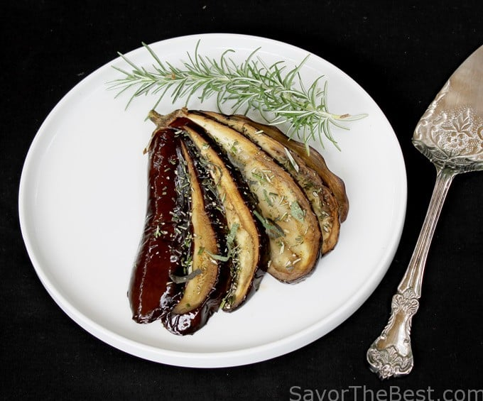 Roasted Eggplant with Fresh Herbs
