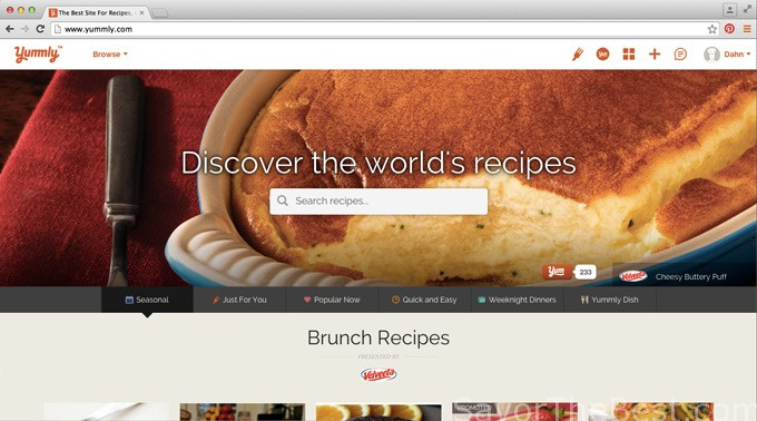 Yummly recipe search engine