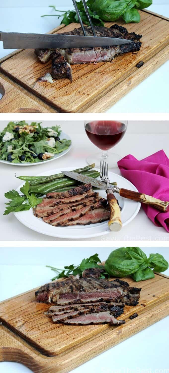 sake-soy grilled ribeye steak