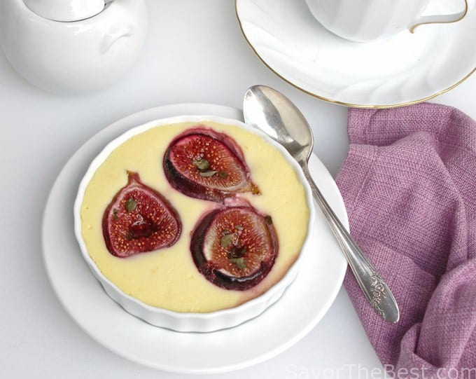 Roasted Figs in Goat Cheese Custard