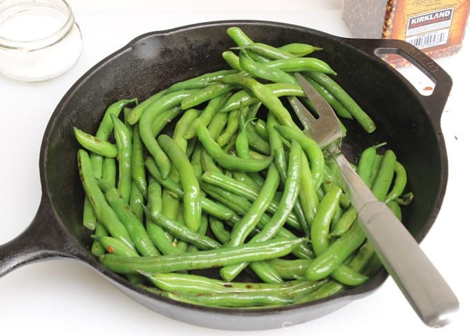 Green Beans with Bacon Crumbles - Savor the Best