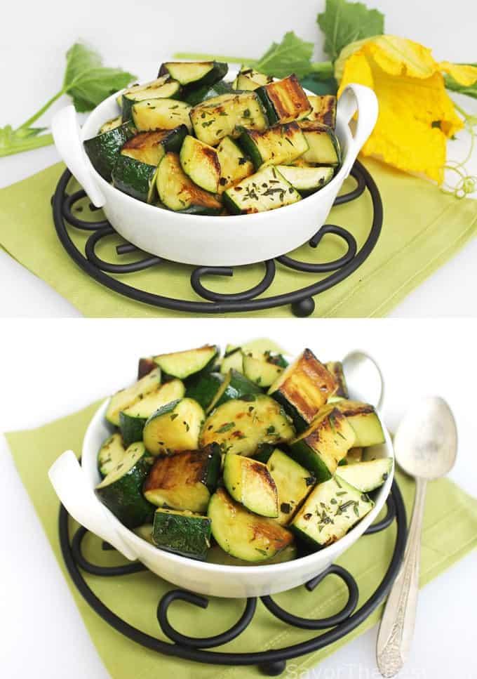 Herbed Zucchini Squash