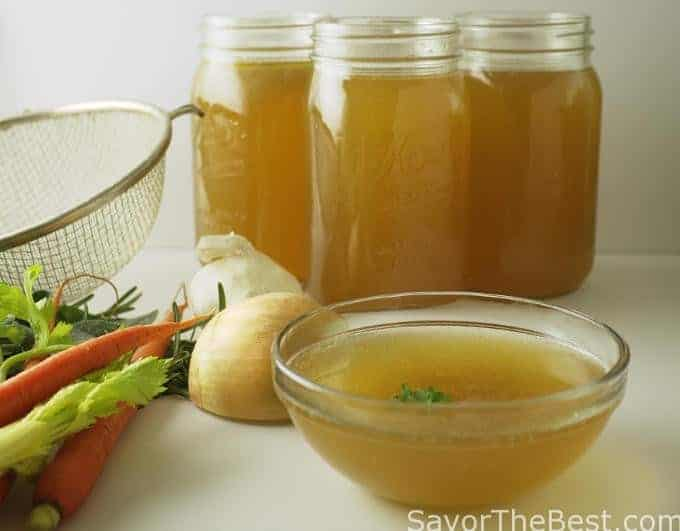bone broth (chicken broth)
