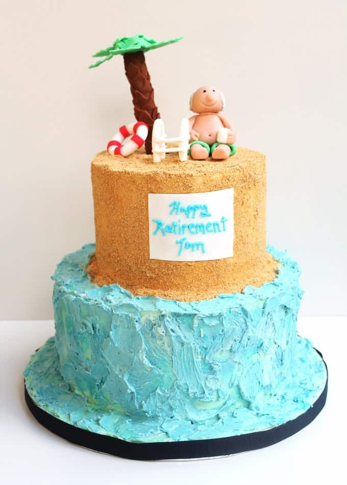 Lazy Day Beach Cake Retirement Cake Design