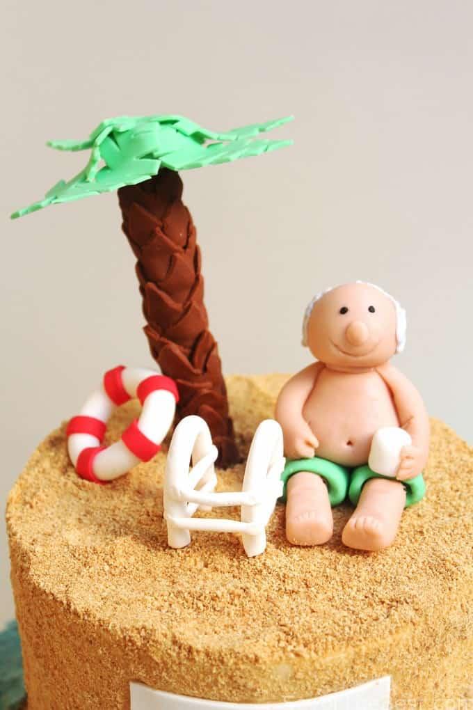 Lazy Day Beach Cake Retirement Cake Design Savor the Best