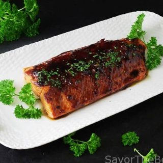 Bourbon-Glazed Salmon Fillet