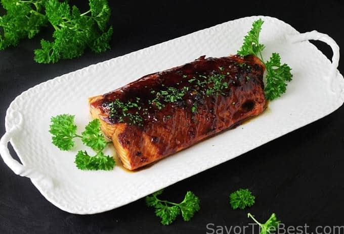 Bourbon-Glazed Salmon Fillet