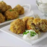 Loaded Baked Potato Croquettes