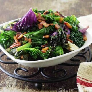 Wilted Greens with Bacon