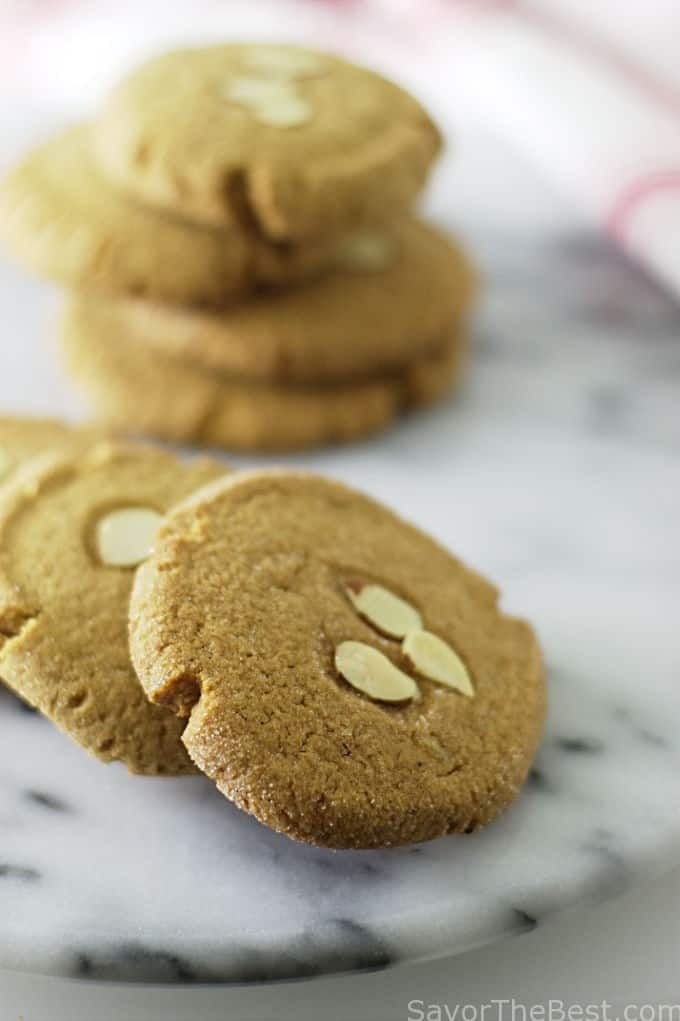 Triple Ginger-Almond Cookies - Savor the Best