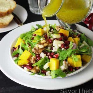 Couscous, Arugula Salad with Pomegranates