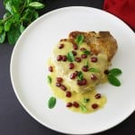 Roasted Pork Chops with Honey Mustard Sauce