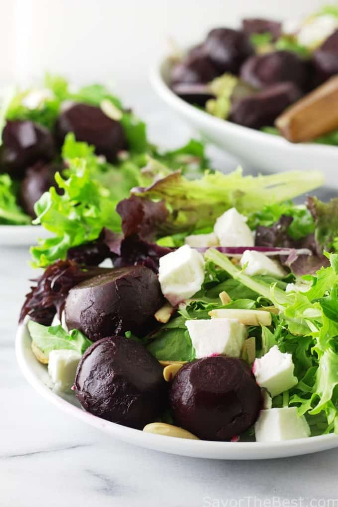 Roasted Baby Beet Salad with Feta Cheese