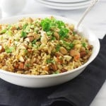 Sprouted Brown Rice Pilaf