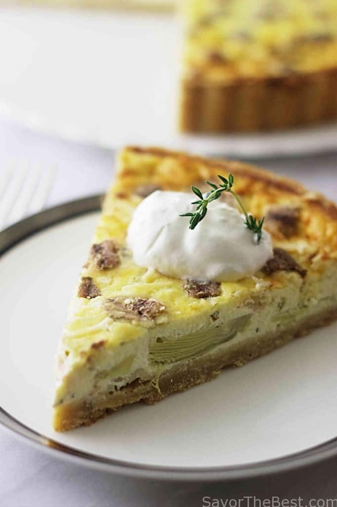 Artichoke and Olive Tart with Kamut Crust