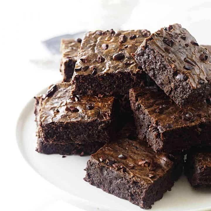 Einkorn Brownies with Cocoa Nibs