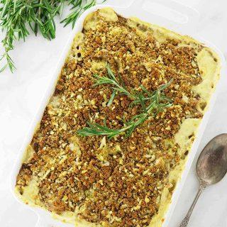 Leeks, Rosemary and Cheese Pasta Bake
