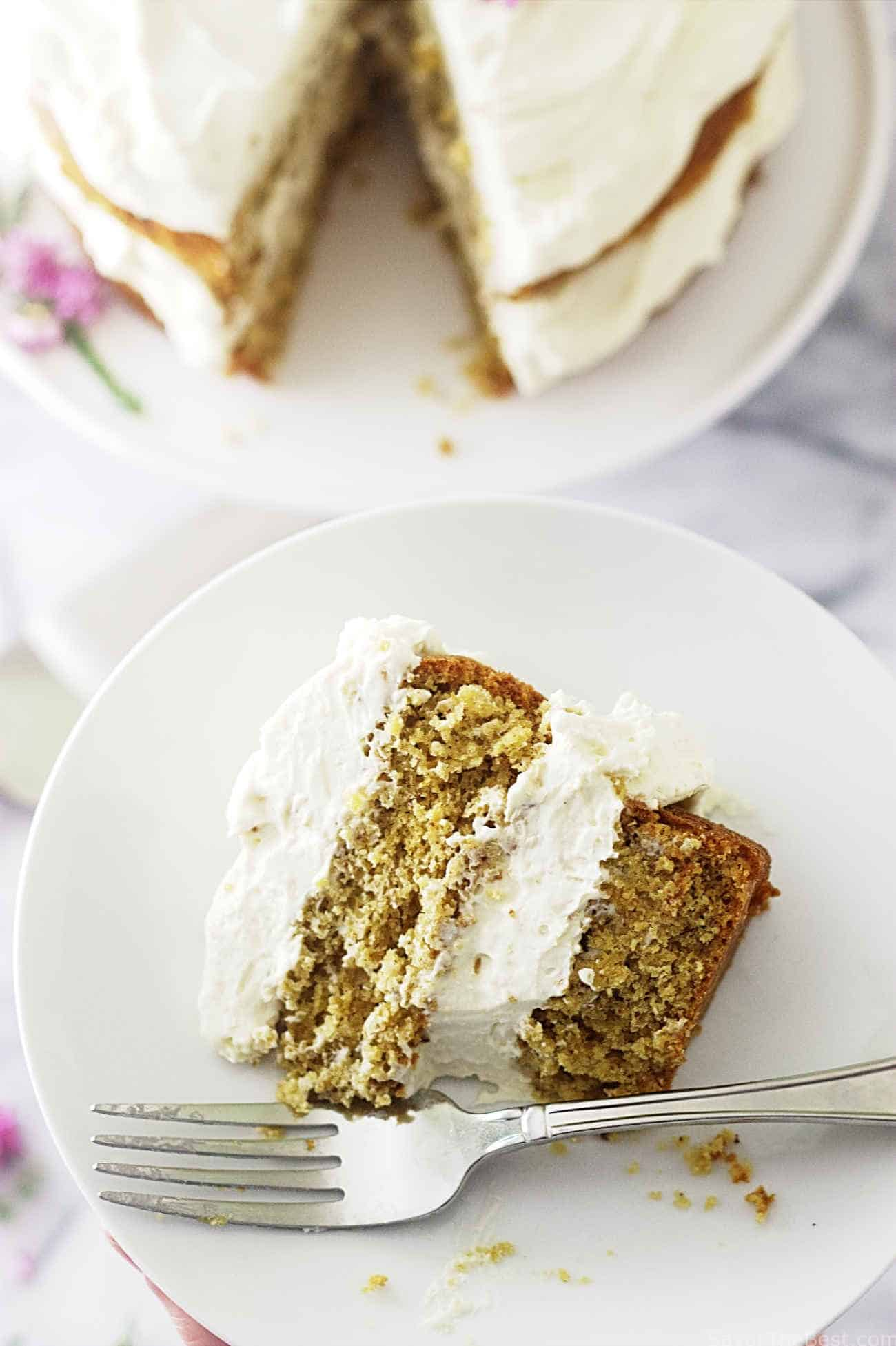 einkorn honey almond cake