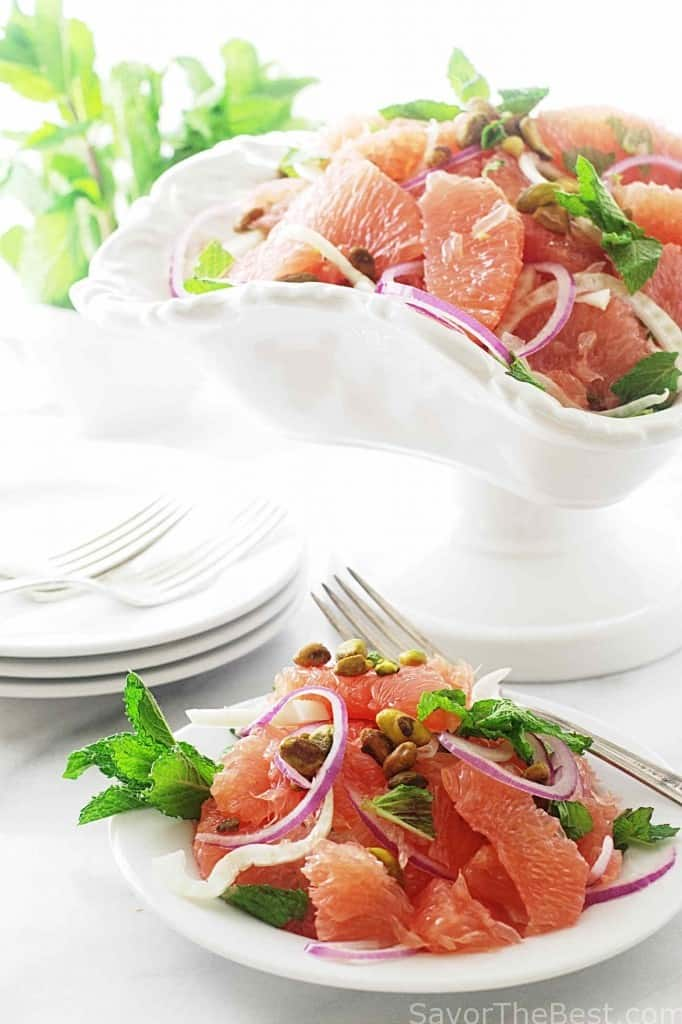 Grapefruit, Mint and Fennel Salad with Pistachios