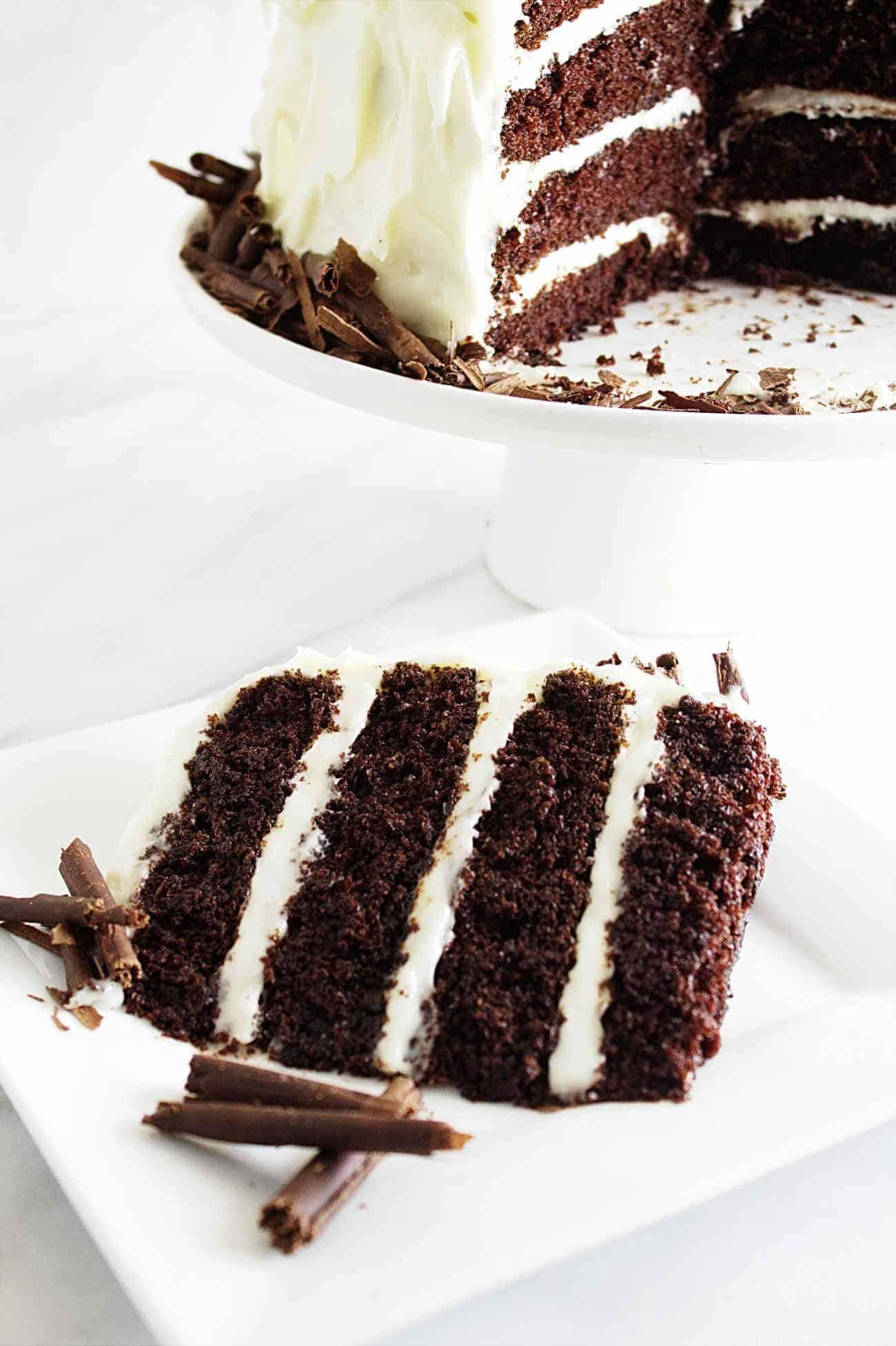 Chocolate Cheese Weeding Cake