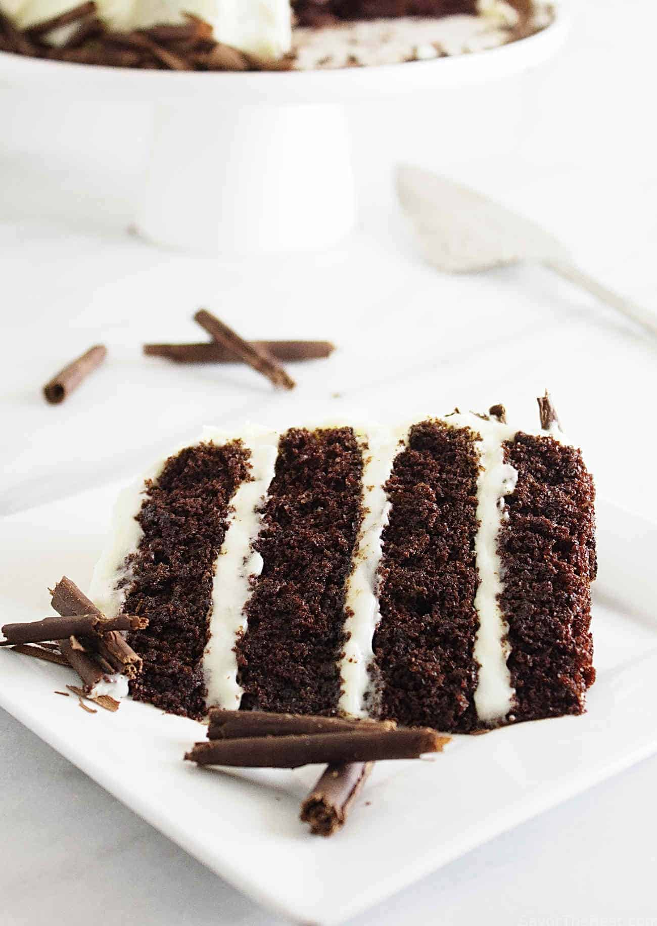 Intense Chocolate Cake with Cream Cheese Frosting - Savor the Best