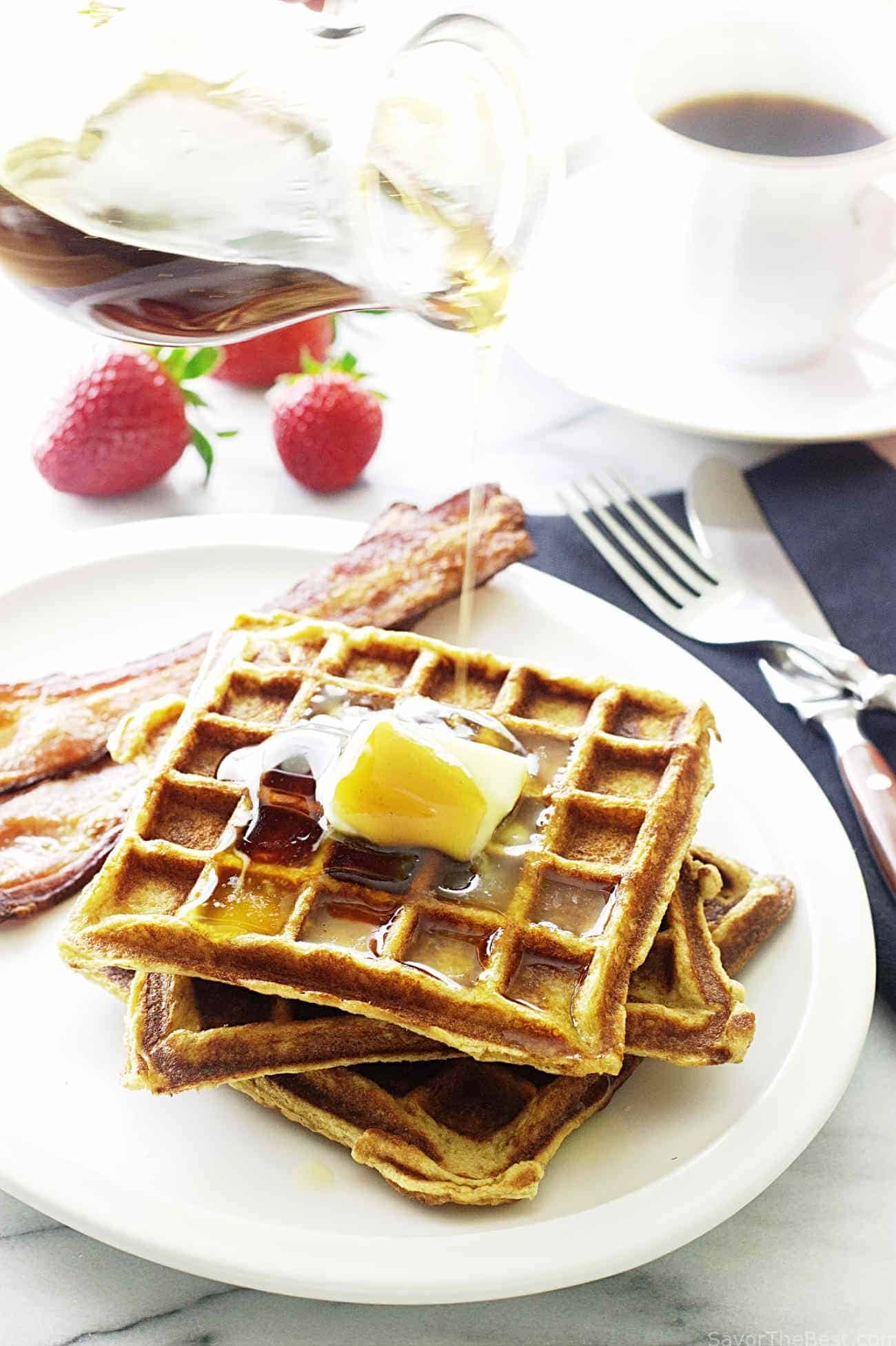 Kamut Buttermilk Waffles - Savor the Best