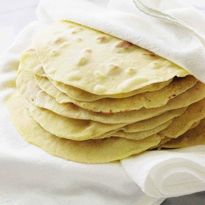 Kamut flour tortillas are thin, soft and easy to make with just a few simple ingredients.