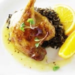 Roasted Duck Legs with Orange Sauce and Wild Rice