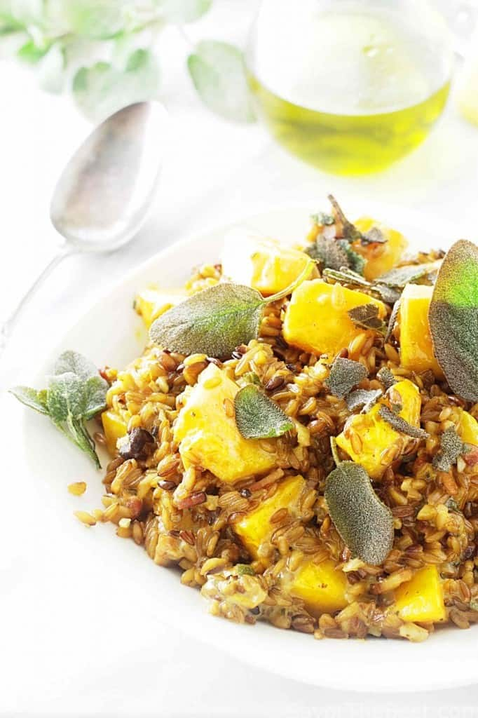 Roasted Emmer and Winter Squash Risotto