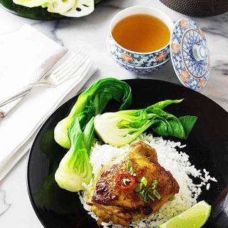 Ginger Chicken and Steamed Jasmine Rice