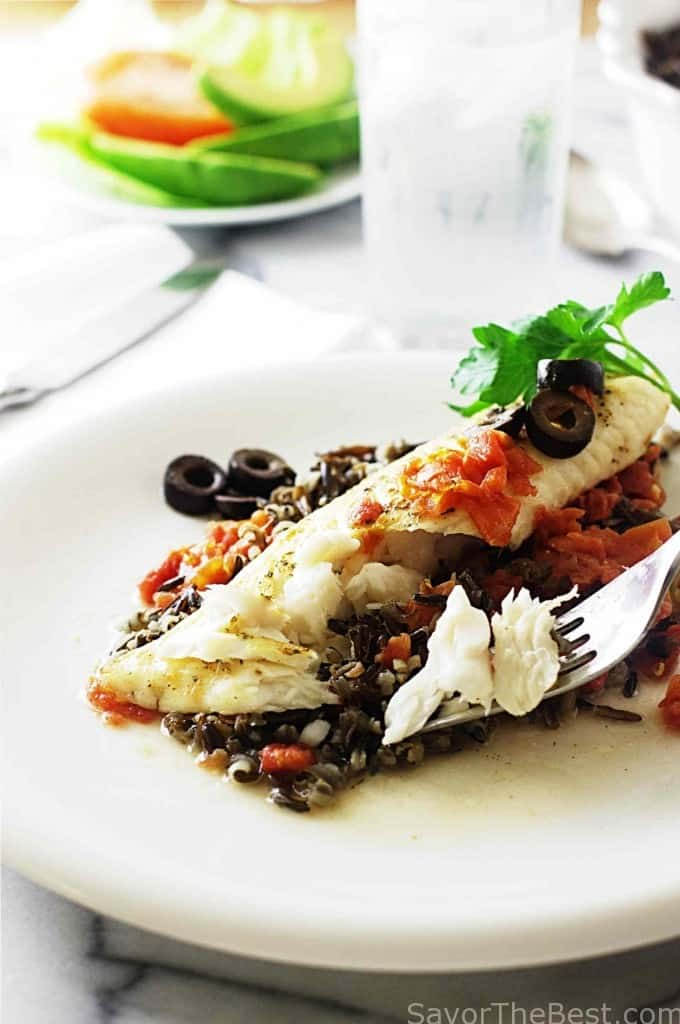 Spicy Tilapia with Wild Rice