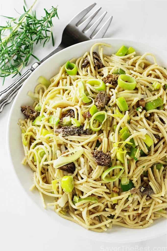 Einkorn Pasta with Morel Mushrooms