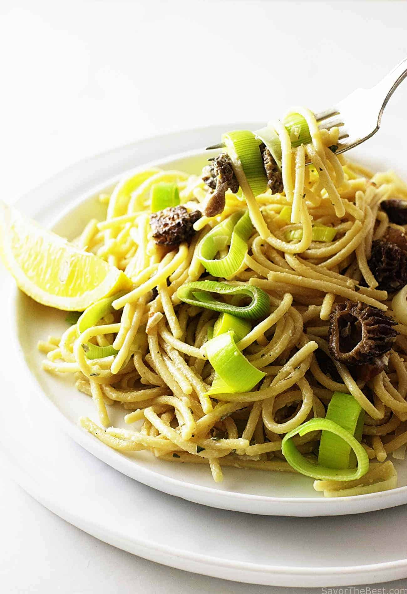 Einkorn Pasta with Morel Mushrooms