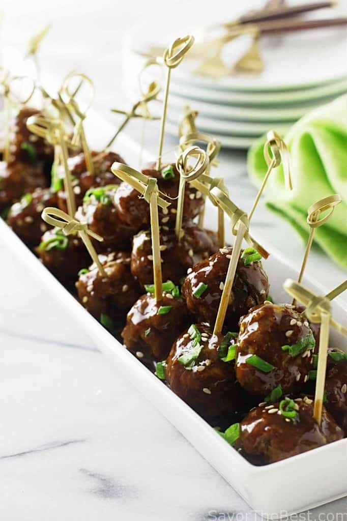Asian Teriyaki Meatball Appetizers