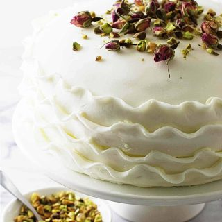 Vanilla, Rose and Pistachio Cake