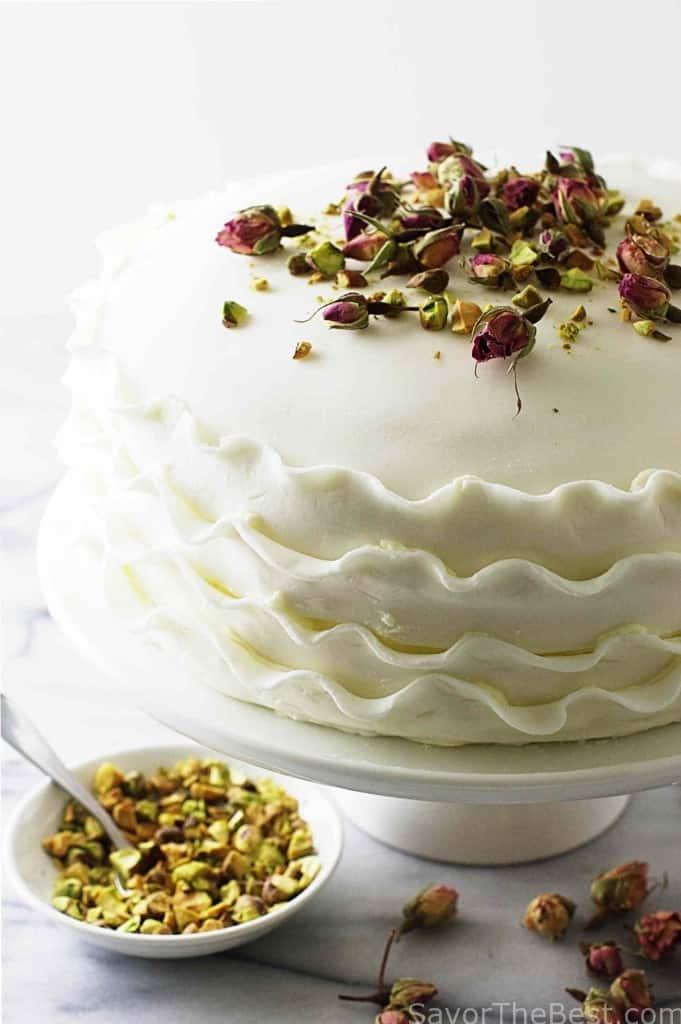 Vanilla, Rose and Pistachio Cake